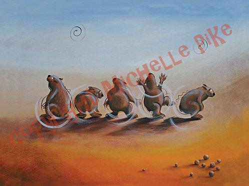 Print - Wombat Wiggle