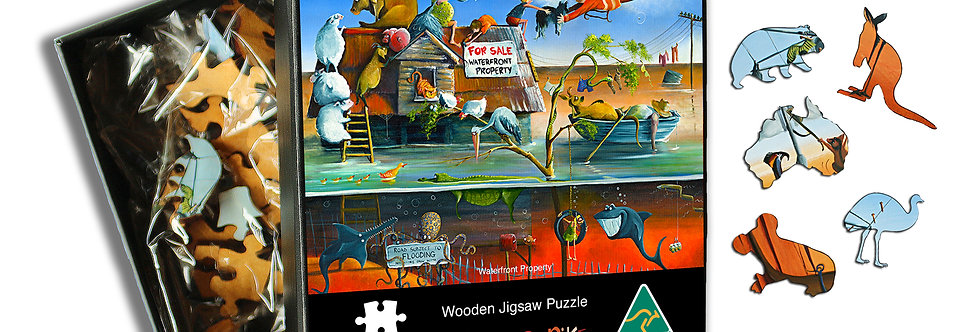 Wooden Puzzle - Waterfront Property