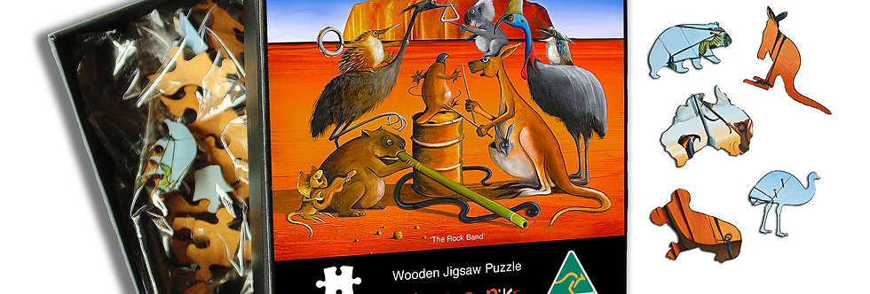 Wooden Puzzle - The Rock Band