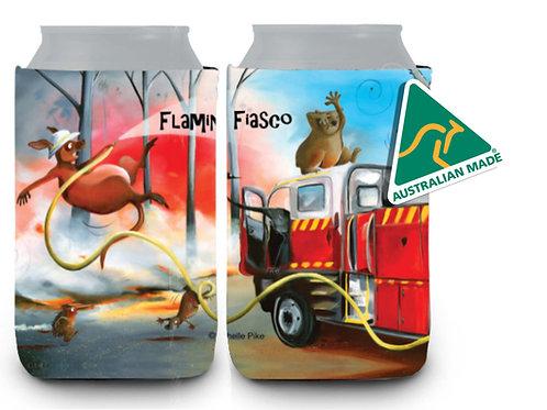 Stubby Cooler - Flaming Fiasco