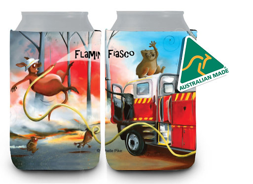 Stubby Cooler - Flaming Fiasco