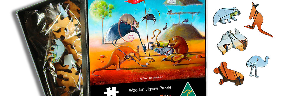 Wooden Puzzle - The Toad or The Hole