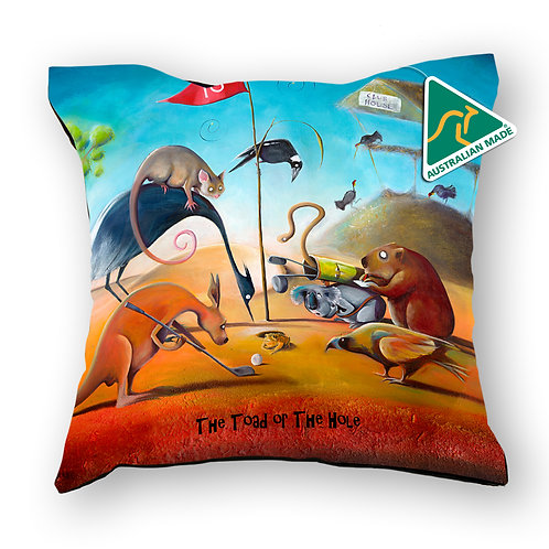 Cushion Cover - The Toad or the Hole