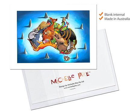 Card - Australia Map