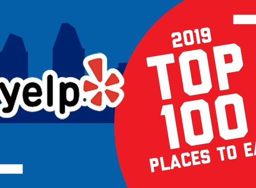 Yelp: Top 100 Places to eat in the U.S. 2019