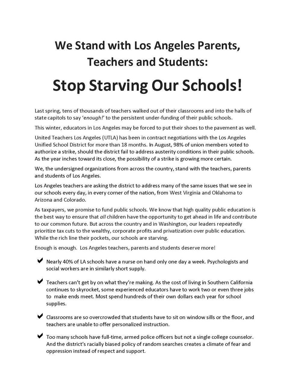 Open Letter to support UTLA from OGEA_Pa