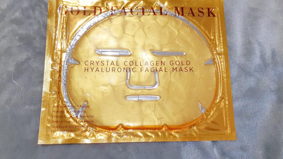 Collagen gold masks
