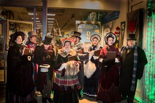 Carolers on location at Lagniappe