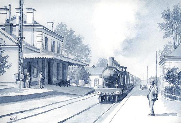 L'ancienne gare de Saint Mathurin sur Loire
