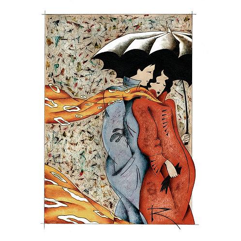 Umbrella (A3 autographed poster)