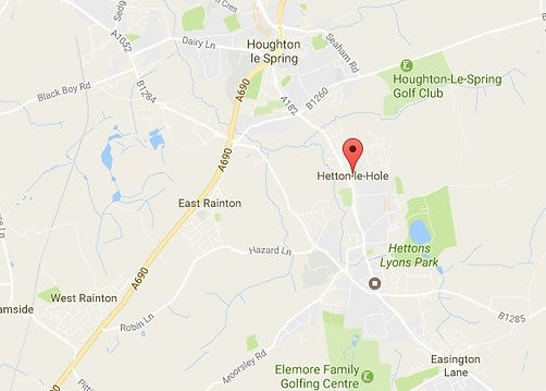 Map of houghton, hetton, east and west rainton