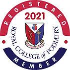 Royal College of Podiatry registered member logo