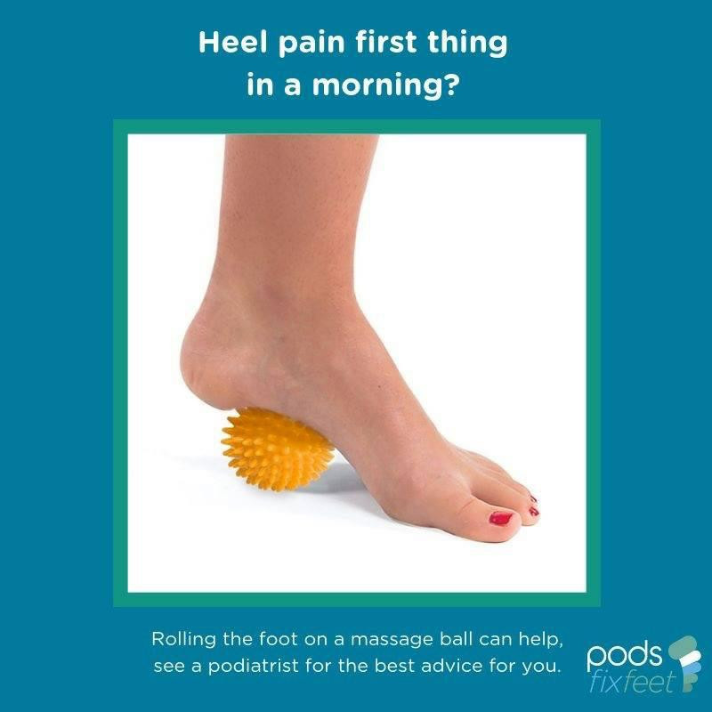 A massage ball may provide heel pain relief