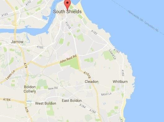 Map south shields, boldon, cleadon, whitburn-Podiatry near Sunderland