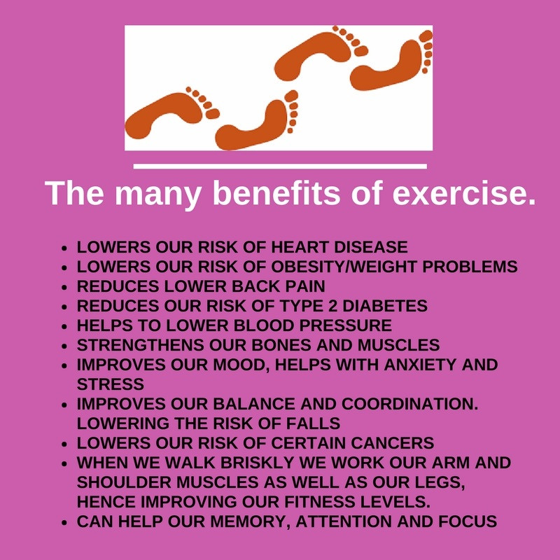 the many benefits of exercise