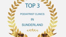 1 of the top best 3 Podiatrists in Sunderland again AND Winner of the Best Small Business Award 👍