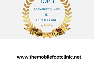 Chosen as 1 of the top best 3 Podiatrists in Sunderland!!!