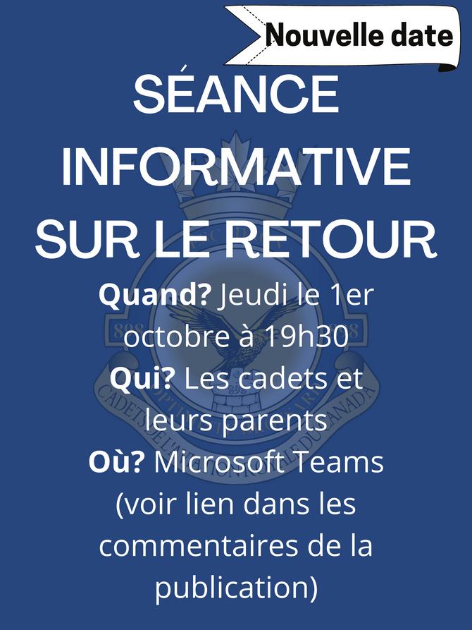 Réunion informative virtuelle 1er octobre 2020