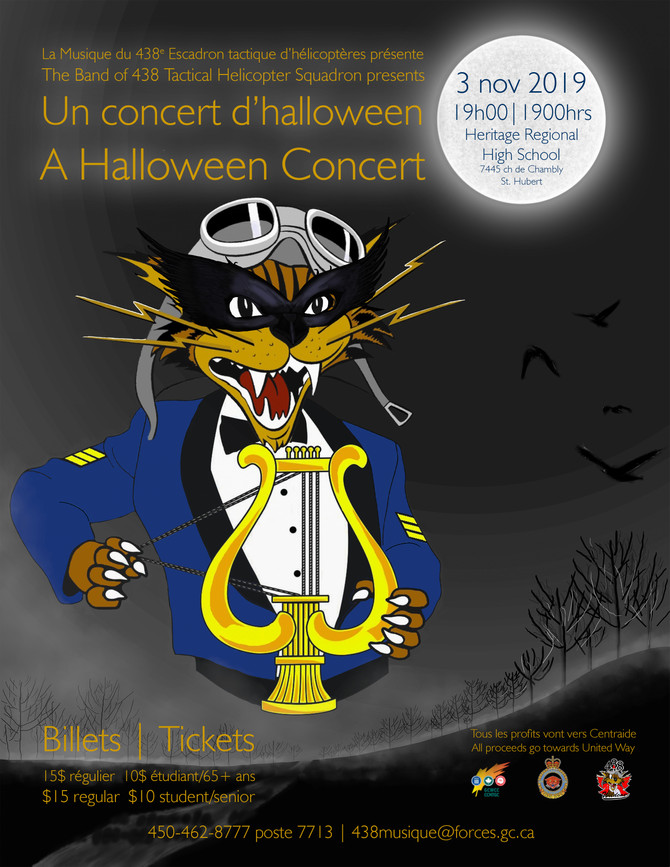 HALLOWEEN CONCERT BY THE 438 TACTICAL HELICOPTER SQUADRON BAND