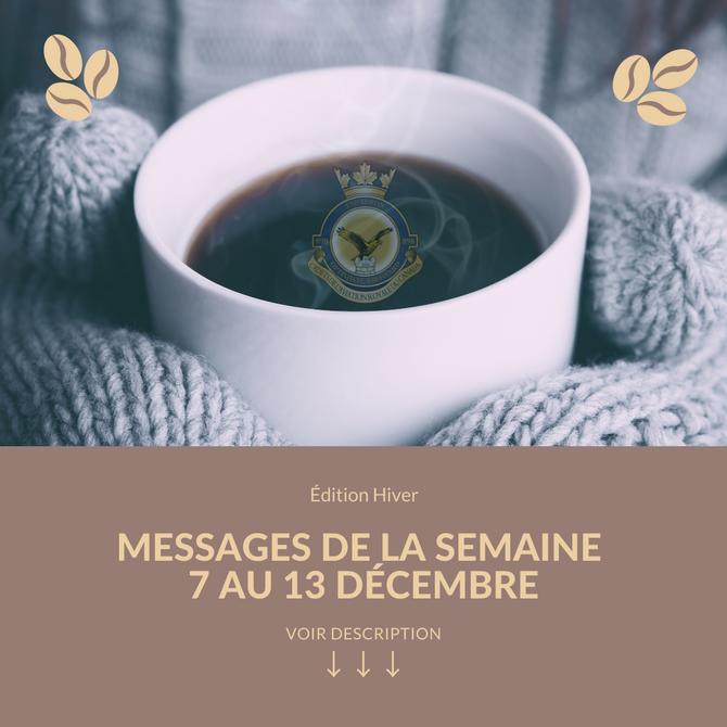 Messages du 7 au 11décembre