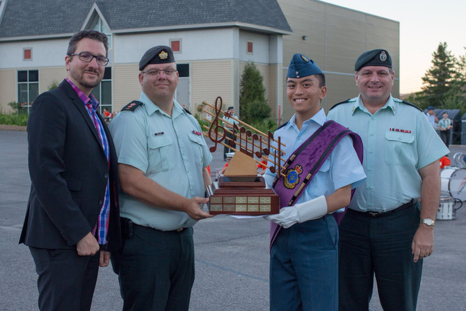 WO1 ANDREW MA HONOURED AT MUSIC CADET TRAINING CENTER
