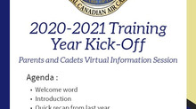 FRIENDLY REMINDER 2020-2021 CADET ACTIVITIES KICK-OFF - SEPT 7TH 20:00