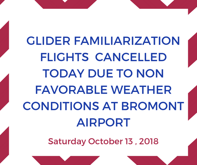 GLIDER FLIGHTS CANCELLED TODAY