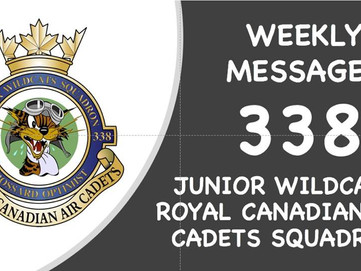 SQUADRON WEEKLY MESSAGES