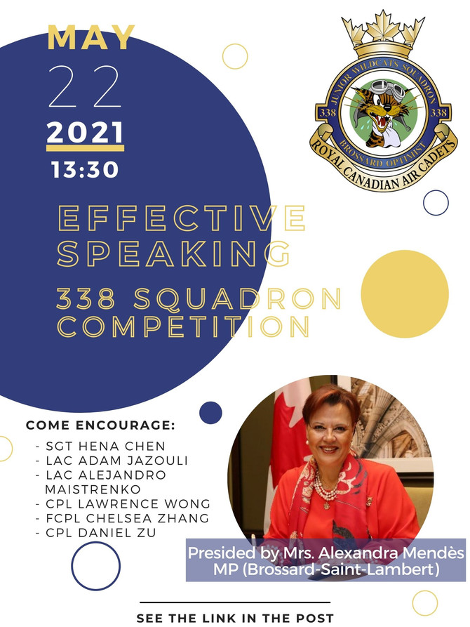 338 Squadron - Effective Speaking Competition