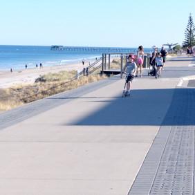 Enjoying the Coastal Path, Henley Beach south