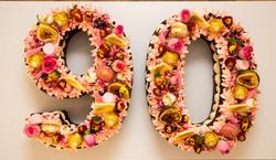 90 Cookie Number Cake
