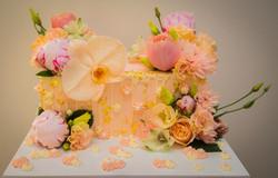 Pink Rectangle Wall Cake