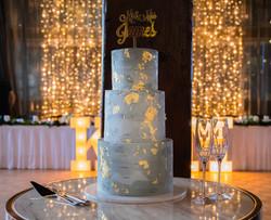Textured Concrete Wedding Cake