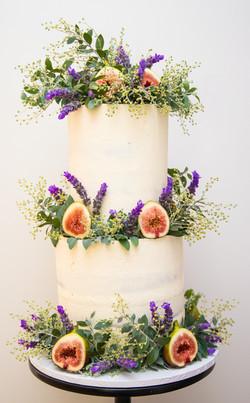 Lavender and Fig Wedding Cake