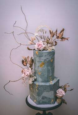 Concrete Look Wedding Cake