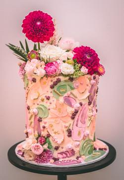 Textured Christening Cake