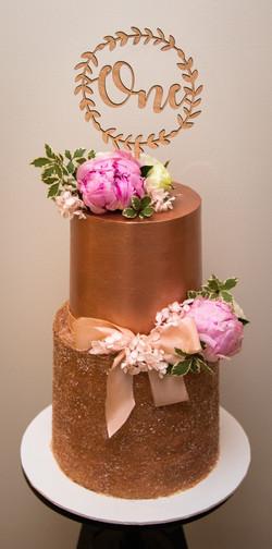 rose gold first birthday