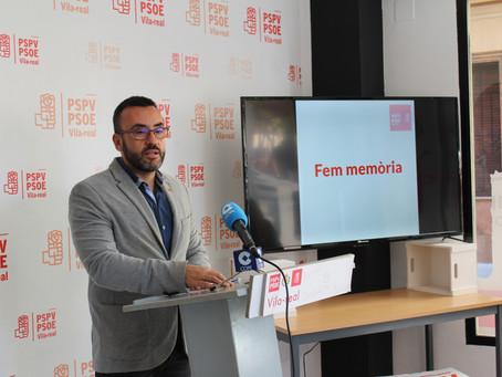 Fem memòria: el Vila-real en negre de 2011 (PP) front al Vila-real en + de hui, amb #AlcaldeBenlloch