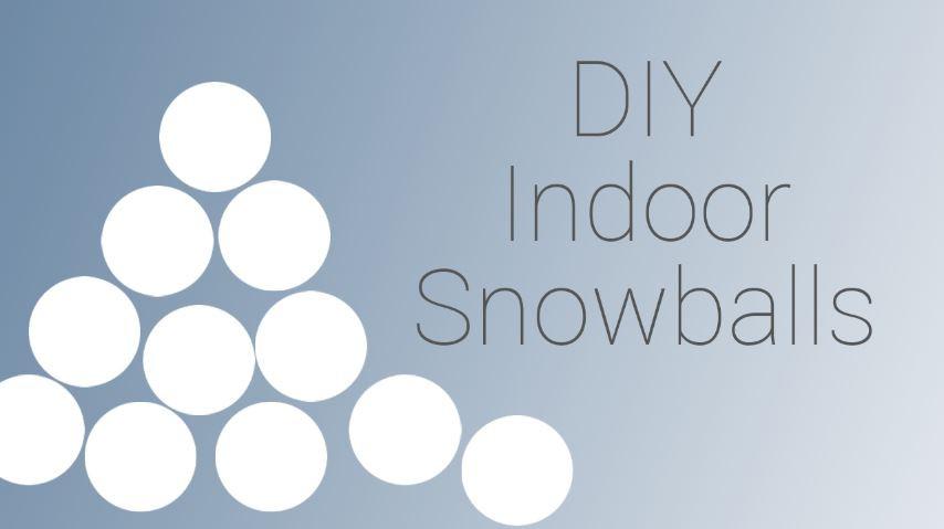 30 second DIY indoor snowballs - Pamela Jane Photography Blog post graphic header image