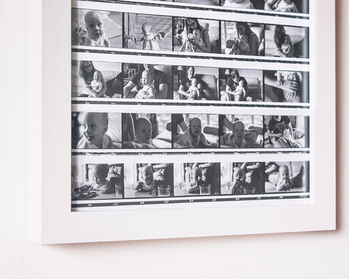 Black and White Film - Framed Contact Pr