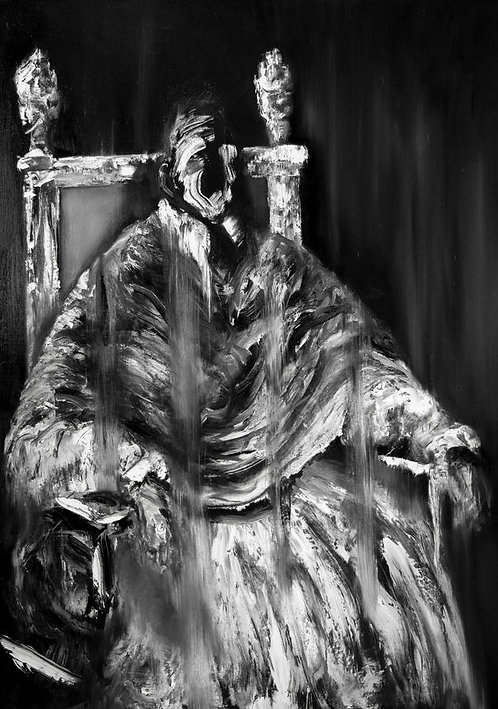 2nd Study after Velázquez, Francis Bacon & Sergej Eisenstein. Pope Innocent X