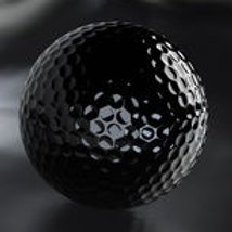 COMMEMORATIVE BLACK GOLF BALL PLATINUM EDITION