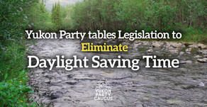 Yukon Party Tables Act to Eliminate Daylight Saving Time