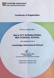 Кембриджская международная школа Бала-Сити