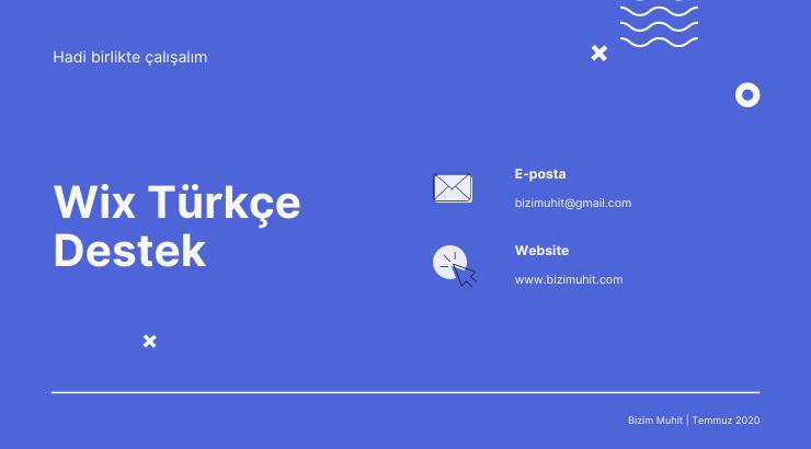 Wix Website Ücretli/Ücretsiz Türkçe Destek Almadan Önce Dikkat Edilmesi Gerekilenler