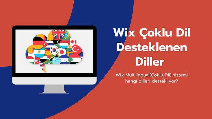 Wix internet siteleri çoklu dil sisteminde desteklenen 90'dan fazla dilinneler olduğuna yakından bakıyoruz.