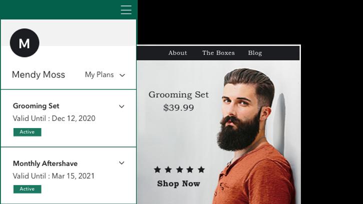 Wix Aboneliklerim Sayfası ile satılan ürün aboneliklerinin, satın alan üyeler tarafından kontrol edilmesine imkan tanıyın.
