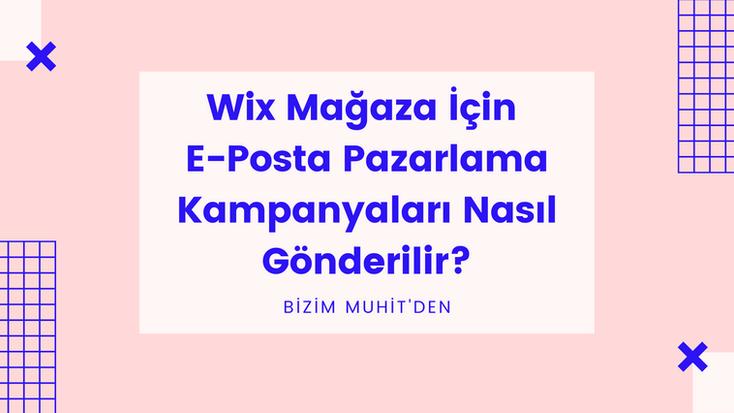 """Wix Türkiye Türkçe olarak,Wix mağaza e-posta pazarlama kampanyalarıile ürün ve promosyonlarınızı potansiyel müşterilerinizle nasıl buluşturacağınızı""""Sıfırdan İleri Seviyeye Wix ile E-Ticaret"""" eğitim videolarının bir parçası olan bu rehberde öğrenin."""