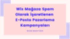 Wix Mağaza Spam Olarak İşaretlenen E-Posta Pazarlama Kampanyaları