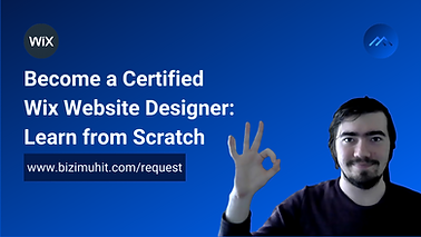 Certified Wix web designer course will take you the right place on market. You will be introduced with fundamentals of the Wix web design and dive into the deeps overtime.
